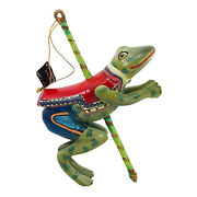 Hand Carved/painted Smithsonian Institution Hop Toad Frog Carousel Ornament Rare