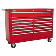 Sealey Rollcab 13 Drawer With Ball Bearing Slides - Red Ap5213t