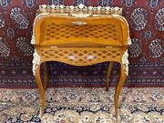 Antique French Louis Xv Inlay Drop Front Secretary Desk