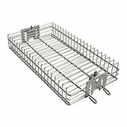 Only Fire 6042 Bbq Stainless Steel Flat Spit Rotisserie Grill Basket For Any ...