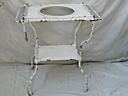 Antique French Arras Style Wrought Iron Washstand With Towel Bars