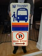 New Jersey Transit Bus Stop Sign