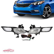Fits Kia Forte 2014-2016 Front Bumper Foglights With Harness And Switch Kit