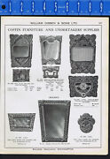Coffin Furniture And Undertaker Supplies 1918-20 Catalog Print Ad