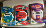 3 Vintage Electronic Games Taboo Buzz'd Trivial Pursuit Hints And Catch Phrase