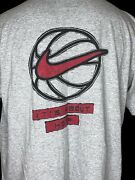 Nike Vtg T-shirtandnbspit Ainandrsquot About The Hype Itand039s About The Hoop Swoosh Usa Made Xl