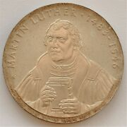 Ddr 20 Mark 1983 Martin Luther Silver Coin Unc
