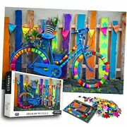 1000 Piece Puzzles For Adults Kids - Amsterdam Vintage Colorful Bicycle