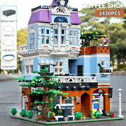 16004 Moc Street View The Coffee Corner With Led Light Building Blocks Toys Sets