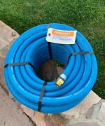 Blue Rubber Water Hose 3/4x75and039 Continental Formerly Goodyear Made Usa
