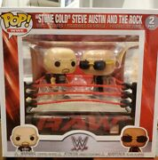 Funko Pops Wwe Stone Cold Steve Austin And The Rock Raw Ring W/ 6 Wrestlers