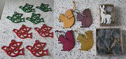 Small Job Lot Of Christmas Decorations And Present Toppers