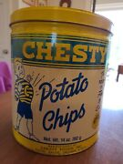 Vintage Chesty Potato Chip Can
