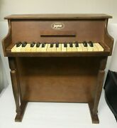 Vintage Jaymar Child's Wooden Upright Piano 25 Keys And Bench Works Free Shipping