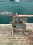 Antique 1930and039s New Idea Hand Cranked Corn Sheller With Hopper Ohio Pick Up Only
