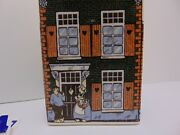 Vintage Delft Blue Handpainted Colorful Ceramic House Coin Bank