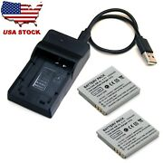 Battery / Usb Charger For Canon Digital Ixus 100 Is 110 Is 120 Is I I7 Zoom New