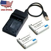 Battery / Usb Charger For Canon Ixy 200f 10s 30s 31s 32s Usa Stock Brand New
