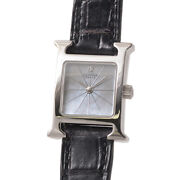Hermes Hh1.190 Stainless Steel Analog Swiss Made Ladies Wristwatch Japan Shipped