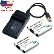 Battery / Usb Charger For Canon Powershot 190 Is 320 Hs 340 Hs 350 Hs 360 Hs New