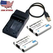 Battery / Usb Charger For Canon Ixy 90f 100f 110f 120 140 150 220f 420f 430f 630