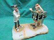 Vtg Ron Lee 88 Dr. Clown With Xray Of Patient With A Goldfish In Him Figurine