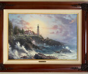 Thomas Kinkade Clearing Storms Limited Edition Canvas Painting S/n Limited