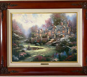 Thomas Kinkade Spring Gate Limited Edition Canvas Painting S/n Limited