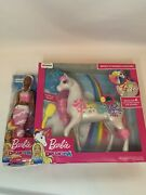 Barbie Dreamtopia Brush And039n Sparkle Unicorn + Sparkle Mountain African American