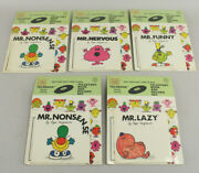 Lot Of 5 Rare Nos New Vtg Mr. Men Telestory Book And Record Sets Roger Hargreaves