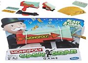 Monopoly Cash Grab Game Ages 8+ Toy Play Money Cards Board Gift Load Boys Girls
