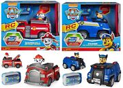 Paw Patrol Remote Control Car 3+ Toy Police Cruiser Fire Truck Race Rc Ir Pup