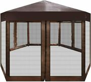 Outdoor Gazebo With Adjustable Height And Mosquito Netting + Carry Bag