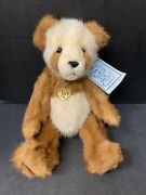 Pat R Fairbanks Teddy Bear Rosti Mink Jointed Stuffed Animal 12 With Necklace