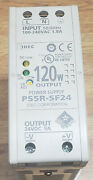 Idec Ps5r-sf24 Power Supply 120w Output 24vdc 5a Din Rail Mount