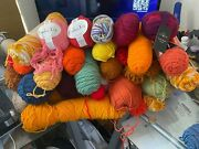 Large Lot Of Yarn - Different Colors - 95 Feels Like Acrylic - 10lb