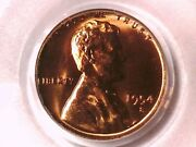 1954 S Lincoln Wheat Cent Penny Pcgs Ms 66 Rd 7812063