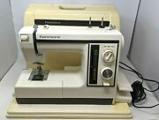 Vtg Sears Roebuck Kenmore Sewing Machine 385.1695180 Pedal Hard Case Works Ss21