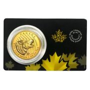 2014 1 Oz Canadian Gold Howling Wolf Call Of The Wild .99999 Fine Gold In Assay