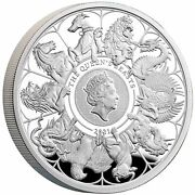 2021 Queen Beast Completer 1oz Silver Proof Coin Rare Mint With Coa Sold Out