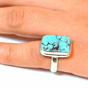 Fine Gem Stone Jewelry 925 Sterling Silver Natural Turquoise Ring Al2517