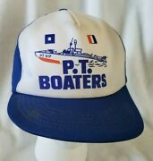 Vintage Ww2 Wwii P.t. Boaters Pt-617 Blue Usn Navy Coast Guard Elco Rare