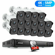 Annke 16ch Poe Security System 4k 8mp Nvr Video 5mp Camera Outdoor Night Vision