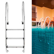 3 Step In-ground Swimming Pool 304 Stainless Steel Ladder Steps Anti-corrosion
