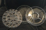 Princess House Fantasia Large Serving Bowl With Inserts New In Box Item 5409