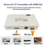 Hdmi To Rf Coaxial Converter Box W/ Remote Control Signal Transmitter Adapter