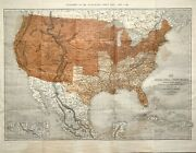 Map United States Of North America Antique Civil War Map By Ettling 1861