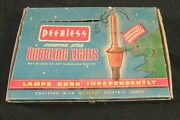 7 Vintage Bubble Bubbling Christmas Lights In Peerless Box