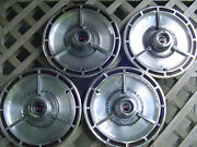 Four Vintage 1964 64 Chevrolet Chevy Impala Chevelle Ss Hubcaps Wheel Covers