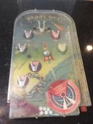 Vintage Electric Blast Off Bagatelle Game, Lowell Toy Co. Outer Space, Rocket,
